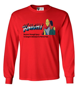 Vintage Black Heroes Men's Long Sleeved T-Shirt - Neil Knight - 6 - Red