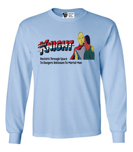 Vintage Black Heroes Men's Long Sleeved T-Shirt - Neil Knight - 6 - Light Blue