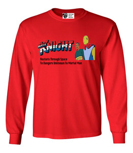 Vintage Black Heroes Men's Long Sleeved T-Shirt - Neil Knight - 8 - Red