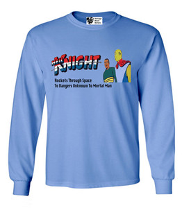 Vintage Black Heroes Men's Long Sleeved T-Shirt - Neil Knight - 8 - Carolina Blue