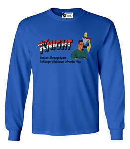 Vintage Black Heroes Men's Long Sleeved T-Shirt - Neil Knight - 10 - Royal Blue