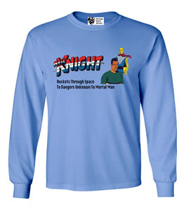 Vintage Black Heroes Men's Long Sleeved T-Shirt - Neil Knight - 10 - Carolina Blue