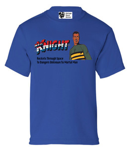 Vintage Black Heroes Boys T-Shirt - Neil Knight - 3 - Royal Blue