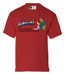 Vintage Black Heroes Boys T-Shirt - Neil Knight - 5 - Red