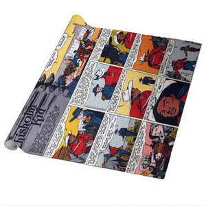 Vintage Black Heroes Wrapping Paper Sheets - The Chisholm Kid - CST8 - Package Of 5