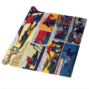 Vintage Black Heroes Wrapping Paper Sheets - The Chisholm Kid - CST4 - Package Of 5