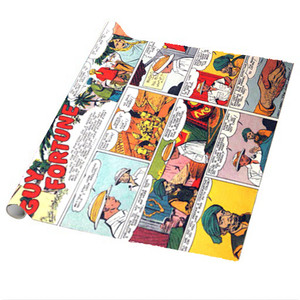 Vintage Black Heroes Wrapping Paper Sheets - Guy Fortune - CST1 - Package Of 5