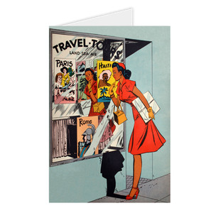 Afrotopia Greeting Cards - Vintage Travel Agency - Package Of 10