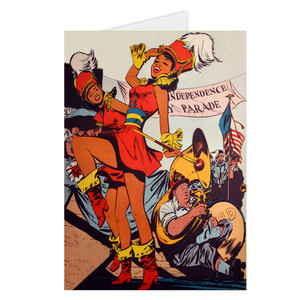 Afrotopia Greeting Cards - Vintage Marching Band - Package Of 10