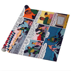 Vintage Black Heroes Wrapping Paper Sheets - Neil Knight - CST4 - Package Of 5