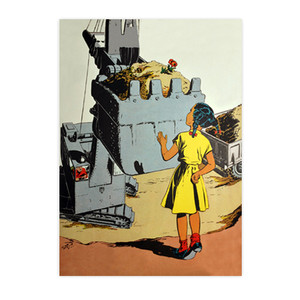 Afrotopia Invitations - Vintage Girl In Yellow - Package Of 10