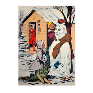 Afrotopia Invitations - Vintage Snow Man - Package Of 10
