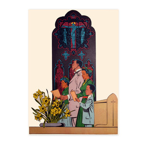 Afrotopia Notecards - Vintage Church - Package Of 10