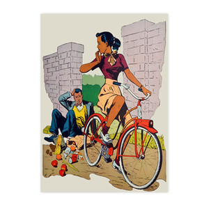 Afrotopia Postcards - Vintage Bicycle - Package Of 10