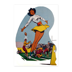 Afrotopia Postcards - Vintage Cheerleader - Package Of 10
