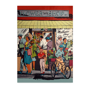 Afrotopia Postcards - Vintage Flower Shop - Package Of 10