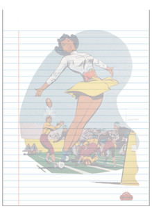 Afrotopia Notepad - Vintage Cheerleader
