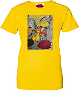 Afrotopia Women's T-Shirt - Vintage Rain - Yellow