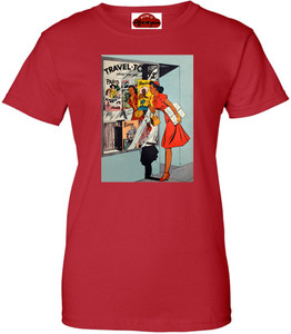 Afrotopia Women's T-Shirt - Vintage Travel Agency - Red