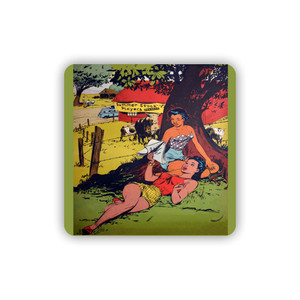 Afrotopia Coasters - Vintage Summer Stock - Package Of 10