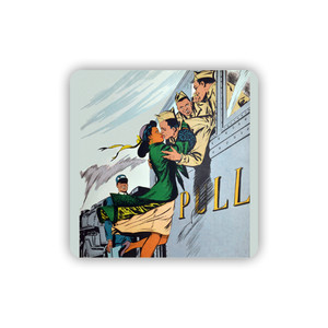 Afrotopia Coasters - Vintage Train Kiss - Package Of 10