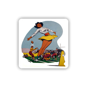 Afrotopia Coasters - Vintage Cheerleader - Package Of 10
