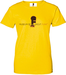 Museum Of UnCut Funk Women's T-Shirt -  Logo 1 - Yellow