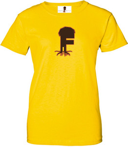 Museum Of UnCut Funk Women's T-Shirt -  Logo 2 - Yellow