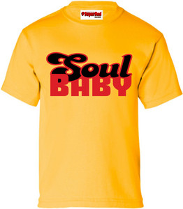 SuperBad Soulware Kids T-Shirt - Soul Baby - Gold - RB