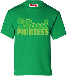 SuperBad Soulware Girls T-Shirt - Soul Princess - Irish Green - GDG