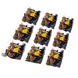 Afrotopia Wrapping Paper Sheets - Vintage Bus Stop - Package Of 5
