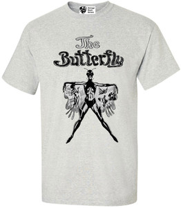 Vintage Black Heroines Men's T-Shirt - The Butterfly - 1 - Ash Grey