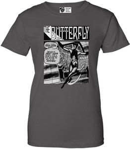 Vintage Black Heroines Women's T-Shirt - The Butterfly - 5 - Charcoal