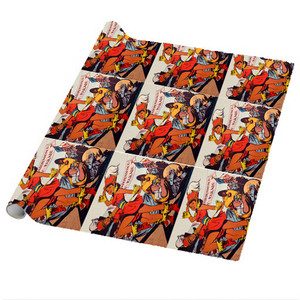 Afrotopia Wrapping Paper Sheets - Vintage Marching Band - Package Of 5