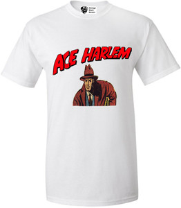 Vintage Black Heroes Men's T-Shirt - Ace Harlem - 4 - White