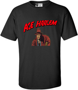 Vintage Black Heroes Men's T-Shirt - Ace Harlem - 4 - Black