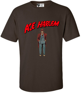 Vintage Black Heroes Men's T-Shirt - Ace Harlem - 6 - Brown