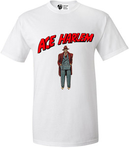 Vintage Black Heroes Men's T-Shirt - Ace Harlem - 6 - White
