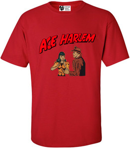 Vintage Black Heroes Men's T-Shirt - Ace Harlem - 7 - Red