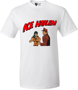 Vintage Black Heroes Men's T-Shirt - Ace Harlem - 7 - White