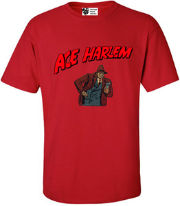 Vintage Black Heroes Men's T-Shirt - Ace Harlem - 10 - Red