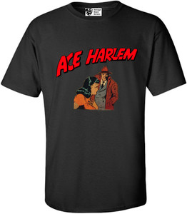 Vintage Black Heroes Men's T-Shirt - Ace Harlem - 15 - Black