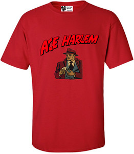 Vintage Black Heroes Men's T-Shirt - Ace Harlem - 16 - Red