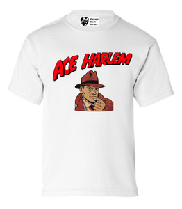 Vintage Black Heroes Boys T-Shirt - Ace Harlem - 1 - White