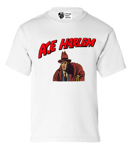 Vintage Black Heroes Boys T-Shirt - Ace Harlem - 4 - White