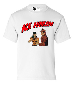 Vintage Black Heroes Boys T-Shirt - Ace Harlem - 7 - White
