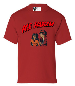 Vintage Black Heroes Boys T-Shirt - Ace Harlem - 11 - Red