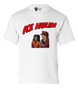 Vintage Black Heroes Boys T-Shirt - Ace Harlem - 11 - White