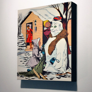 Afrotopia 14x12 Canvas - Vintage Snow Man