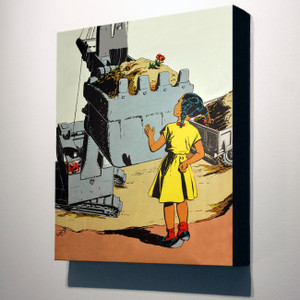 Afrotopia 14x12 Canvas - Vintage Girl In Yellow